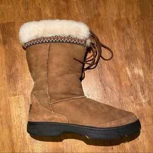 UGG Chestnut Braid Tall Shearling 5273 Boots